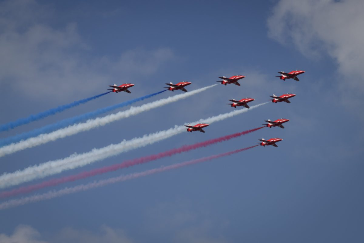 Red Arrows at the Pendennis Cup Falmouth
