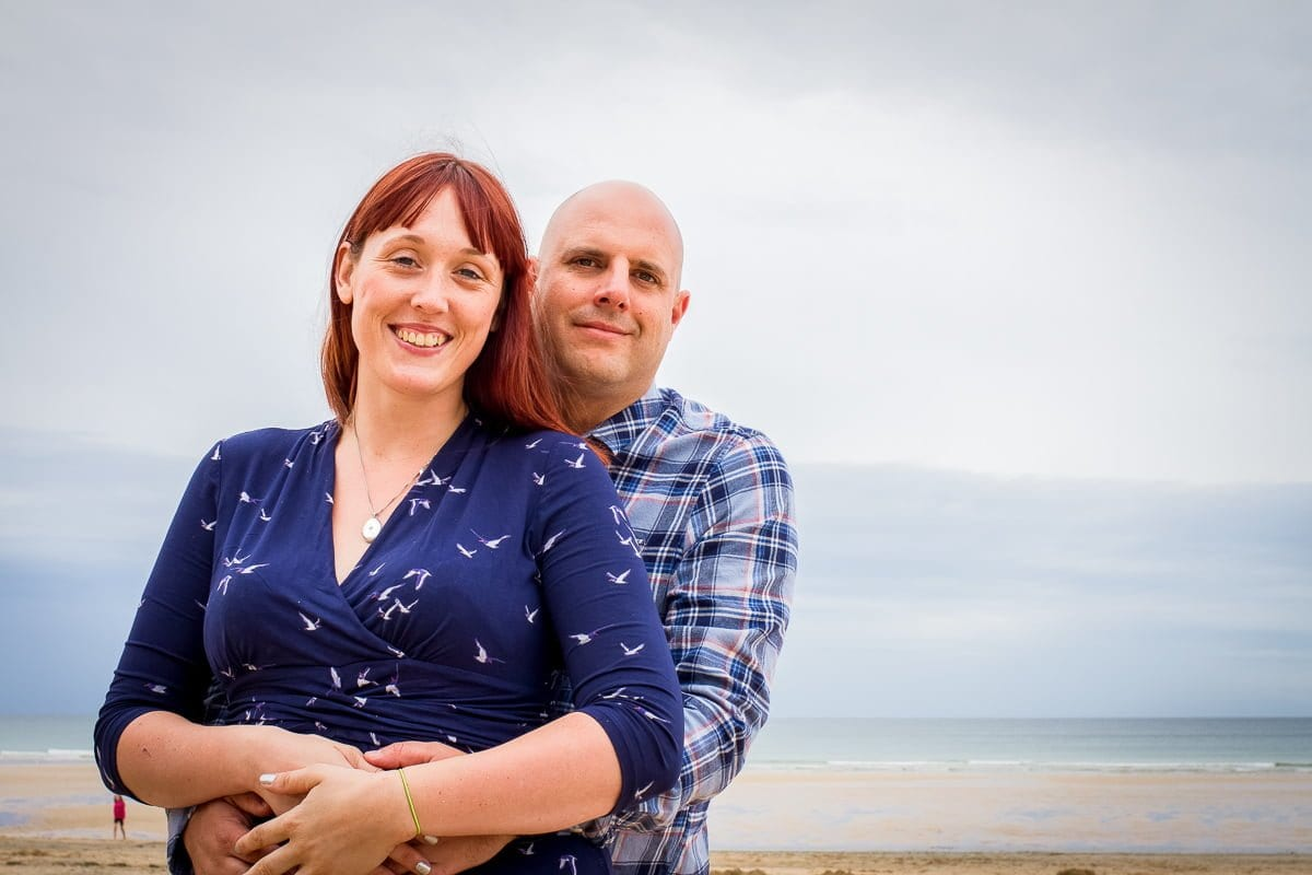 Jen + John - Engagement Shoot - Watergate Bay - Newquay