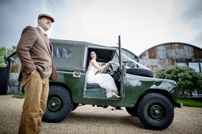 land rover wedding